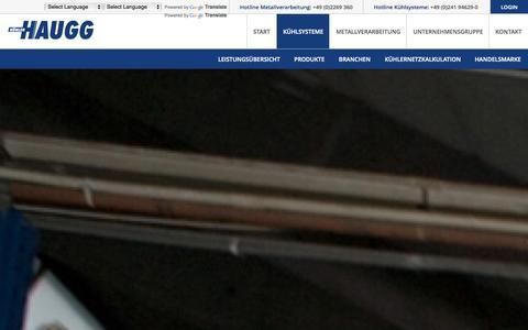 Screenshot of Login Page haugg-group.com - Haugg Gruppe | Kühlsysteme und Metalverarbeitung  | Kühlsysteme - captured Oct. 2, 2014
