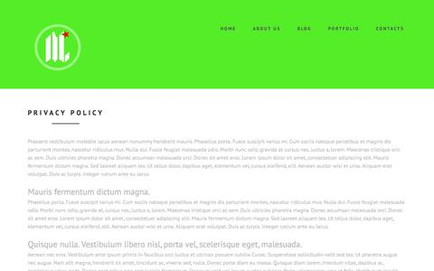 Screenshot of Privacy Page mycalidesigns.com - Privacy policy - captured Oct. 6, 2014