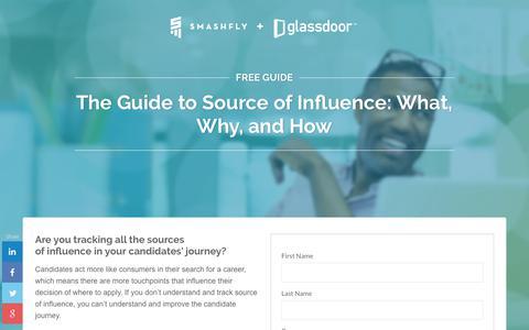 Screenshot of Landing Page smashfly.com - SmashFly and Glassdoor Guide: Source of Influence - captured Feb. 8, 2019