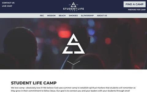Screenshot of Home Page studentlife.com - Homepage - Student Life - captured Nov. 18, 2019