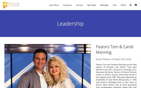 Screenshot of Team Page christianlifecenterftl.org - Leadership | Christian Life Center - captured Sept. 28, 2018
