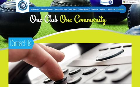 Screenshot of Contact Page cabrabowls.com.au - Contact - Cabramatta Bowling Club - captured Oct. 28, 2014