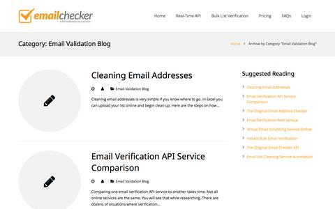 Screenshot of Blog email-checker.com - Email Validation Blog by Email-Checker - captured Aug. 22, 2016