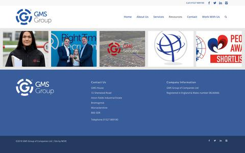 Screenshot of Press Page gms-group.co.uk - Latest News - GMS Group - captured Feb. 21, 2018