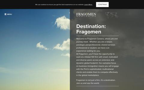 Screenshot of Jobs Page fragomen.com - Careers | Fragomen Worldwide - captured Nov. 20, 2015