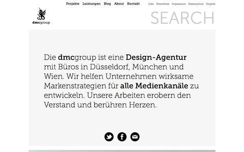 Screenshot of Home Page dmcgroup.eu - Agentur für Corporate Design, Motion Design und Digitale Kommunikation - dmcgroup - captured Aug. 8, 2018