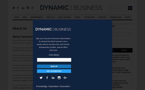 Screenshot of About Page dynamicbusiness.com.au - About us | Dynamic Business - captured May 22, 2018