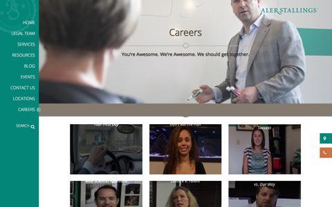 Screenshot of Jobs Page alerstallings.com - Careers - AlerStallings - captured Oct. 7, 2017