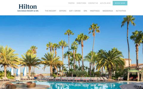 Screenshot of Home Page sandiegohilton.com - Luxury Family Resort in San Diego | Hilton San Diego Resort and Spa - captured Nov. 8, 2016