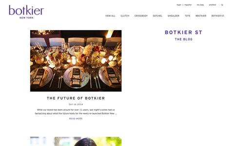 Screenshot of Blog botkier.com - Our Handbag Fasion Blog & Today's Fashion Trends | Botkier - captured Oct. 28, 2014