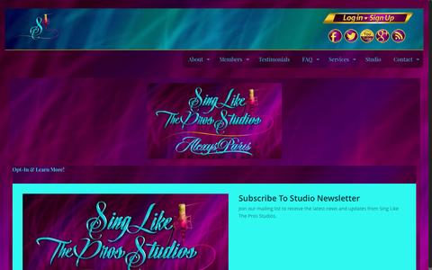 Screenshot of Signup Page singlikethepros.com - Opt-In! - Sing Like The Pros Studios - captured Jan. 27, 2017