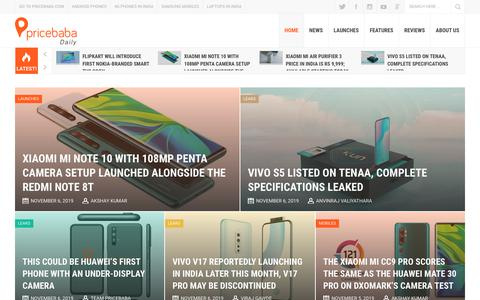 Screenshot of Blog pricebaba.com - Pricebaba Daily - Get the Latest Tech News in India, In-depth Reviews, Detailed Specifications and Opinions - captured Nov. 6, 2019