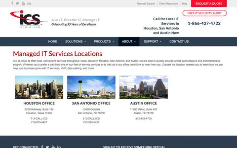 Screenshot of Locations Page ics-com.net - Managed IT Services Locations   ICS Communications - captured Oct. 15, 2017