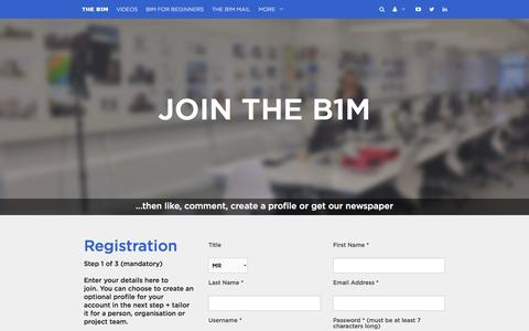 Screenshot of Signup Page theb1m.com - Join The B1M - captured Feb. 28, 2016