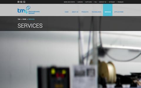 Screenshot of Services Page tm4.com - Services - TM4 - captured Sept. 30, 2014