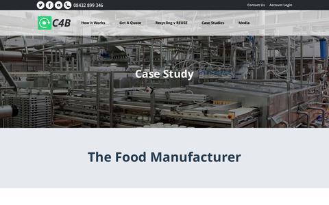 Screenshot of Case Studies Page cash4boxes.co.uk - Case Study - The Food Manufacturer - CASH4 BOXES - captured July 16, 2018