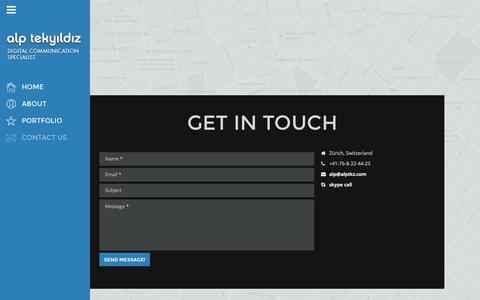 Screenshot of Contact Page alptkz.com - Contact us - Alp Tekyildiz - captured Oct. 4, 2014