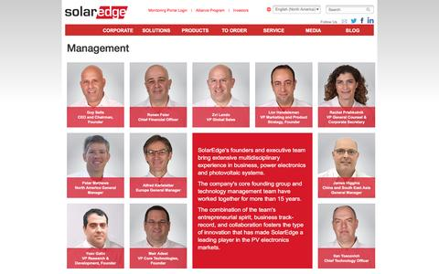 Screenshot of Team Page solaredge.com - Management | Solaredge - captured Feb. 18, 2016