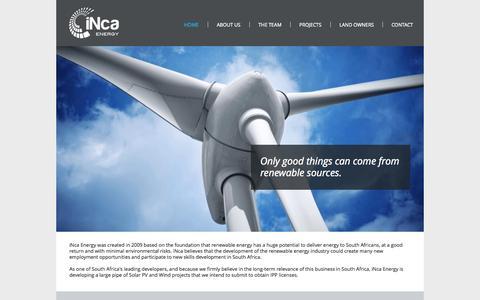 Screenshot of Home Page inca-energy.com - incaenergy - captured Sept. 30, 2014