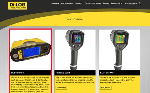Screenshot of Products Page dilog.co.uk - Products Archive - Di-LOG - captured Oct. 9, 2018