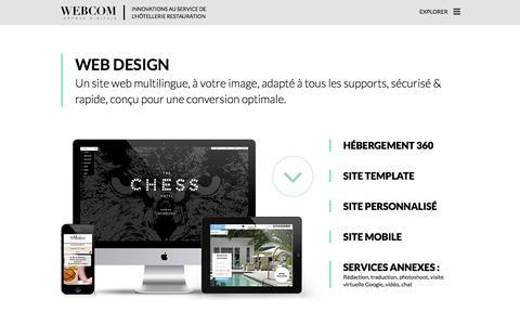 Screenshot of Services Page agencewebcom.com - Agence WEBCOM - Web Design - captured Dec. 24, 2015