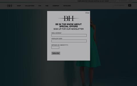 Screenshot of Home Page blackhalo.com - Official Black Halo Clothes Store Online - captured Feb. 21, 2016