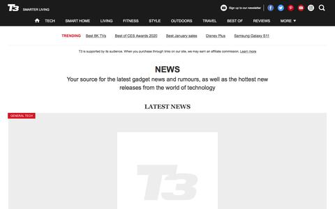 Screenshot of Press Page t3.com - Gadget and tech news   T3 - captured Jan. 9, 2020