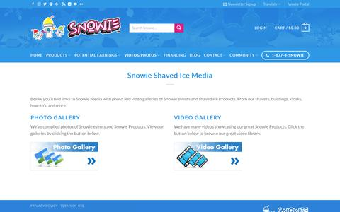 Screenshot of Press Page snowie.com - Snowie Media | Photo and Video Galleries - captured July 8, 2017