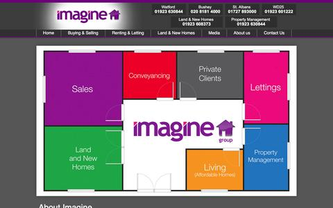 "Screenshot of About Page imagine-group.co.uk - About St. Albans, Watford, Garston, Leavesden and Bushey's award winning estate agent, Imagine"" - captured Feb. 10, 2016"