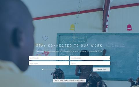 Screenshot of Landing Page clintonfoundation.org - Stay Connected to Our Work in Haiti and Around the World | The Clinton Foundation - captured Feb. 10, 2017