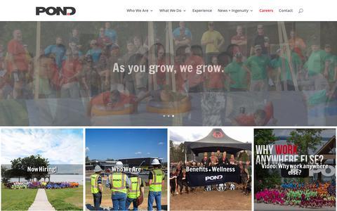 Screenshot of Jobs Page pondco.com - Careers - Pond & Company - captured Sept. 28, 2018