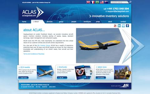 Screenshot of About Page aclasglobal.com - Aclas Global | about Aclas UK | Aclasglobal.com - captured July 23, 2016