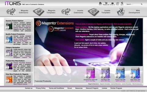 Screenshot of Home Page itoris.com - Magento Marketplace – Joomla Extensions & Templates   ITORIS - captured Sept. 19, 2014