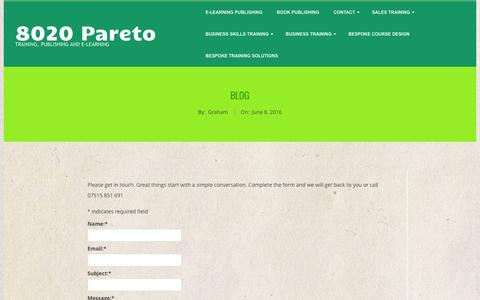 Screenshot of Blog 8020-pareto.co.uk - Blog | 8020 Pareto - captured Nov. 28, 2016