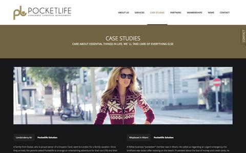Screenshot of Case Studies Page pocketlife.ch - Pocketlife | Case Studies - captured Sept. 30, 2014