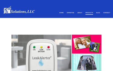 Screenshot of Products Page nth-solutions.com - Products | nth Solutions - captured Dec. 2, 2016