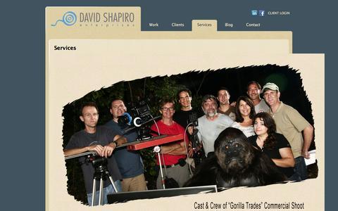 Screenshot of Services Page daveshapiro.com - Services | Dave Shapiro - captured Oct. 5, 2014
