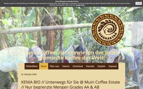 Screenshot of Press Page kaffee-sid.com - News - Kaffee Siddhartha GmbH - captured Nov. 15, 2018