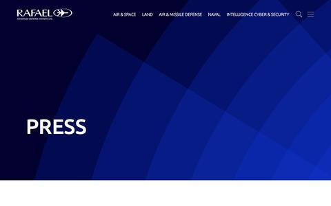 Screenshot of Press Page rafael.co.il - Press Archive – Rafael - captured June 25, 2019