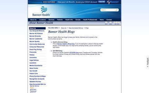 Screenshot of Blog bannerhealth.com - Blogs - captured Dec. 29, 2015