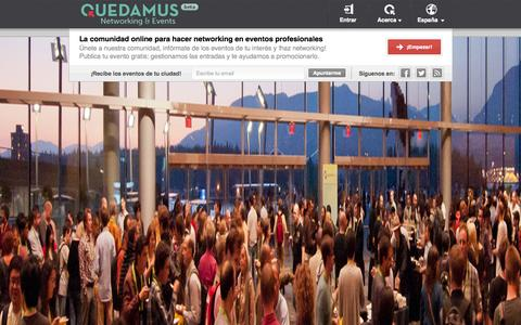 Screenshot of About Page FAQ Page Terms Page quedamus.com - Eventos y Networking en España | quedamus.com - captured Oct. 22, 2014