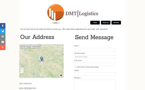 Screenshot of Privacy Page Contact Page dmtlogistics.net - Contact Us - captured June 3, 2017