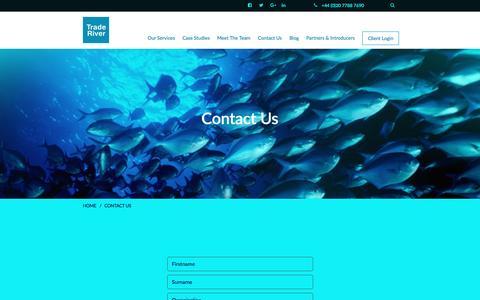Screenshot of Contact Page traderiverfinance.com - TradeRiver - captured Dec. 2, 2016