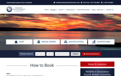 Screenshot of Terms Page nanaimoyachtcharters.com - Yacht Terms & Conditions - Nanaimo Yacht Charters - captured Sept. 23, 2018