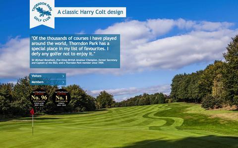 Screenshot of Home Page thorndonpark.com - Thorndon Park Golf Club - captured Oct. 7, 2014