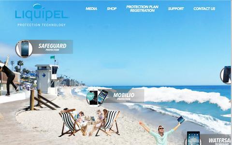 Screenshot of Home Page liquipel.com - Liquipel - captured July 4, 2016