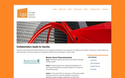 Screenshot of Case Studies Page cgp.com - Case Studies | Chicago Growth Partners - captured Oct. 2, 2014