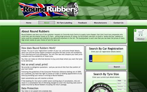 Screenshot of About Page roundrubbers.com - About Round Rubbers: Your Online Tyre Provider - Round Rubbers - captured Sept. 30, 2014