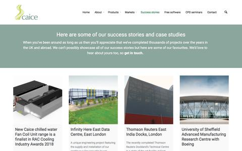 Screenshot of Case Studies Page caice.co.uk - Case studies - Caice - captured July 15, 2018