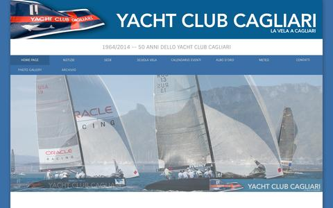 Screenshot of Home Page yachtclubcagliari.it - Yacht Club, la vela, Cagliari - captured Sept. 30, 2014